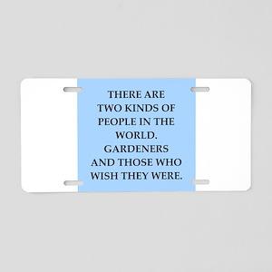 GARDEN Aluminum License Plate