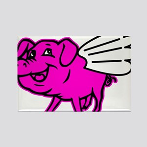 This Pig Can Fly Graphic Tee Design Rectangle Magn
