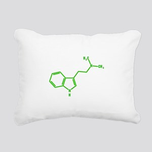 DMT molecule Rectangular Canvas Pillow