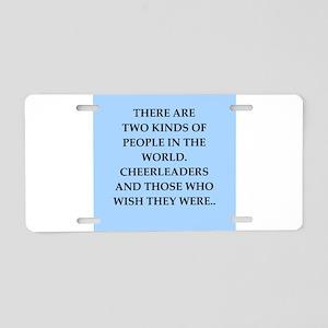 CHEERLEADERS Aluminum License Plate