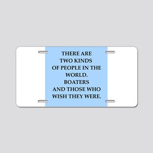 boating Aluminum License Plate