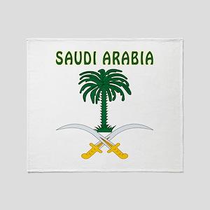Saudi Arabia Coat of arms Throw Blanket