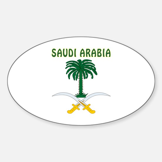 Saudi Arabia Coat of arms Sticker (Oval)