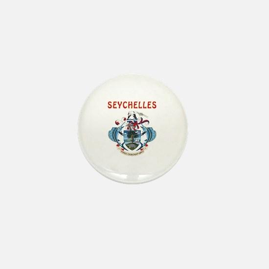 Seychelles Coat of arms Mini Button
