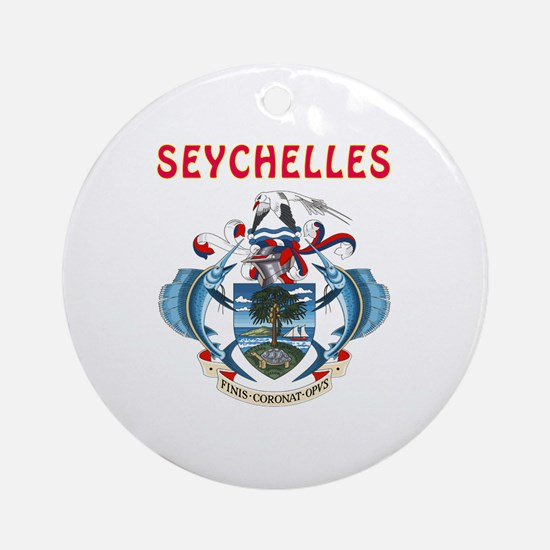 Seychelles Coat of arms Ornament (Round)