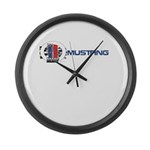 Mustang Logo 2013 Large Wall Clock