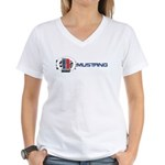 Mustang Logo 2013 Women's V-Neck T-Shirt