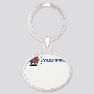 Mustang Logo 2013 Oval Keychain