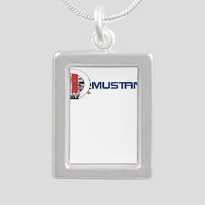 Mustang Logo 2013 Silver Portrait Necklace