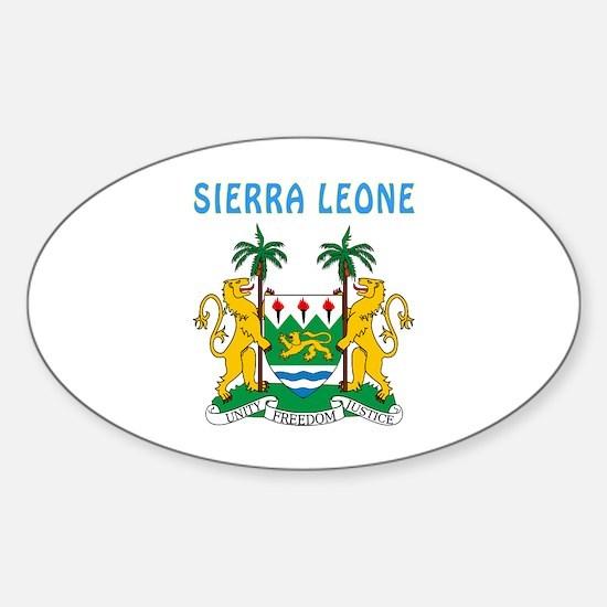 Sierra Leone Coat of arms Sticker (Oval)