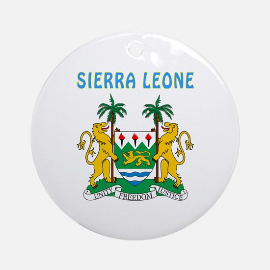 Sierra Leone Coat of arms Ornament (Round)