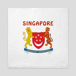 Singapore Coat of arms Queen Duvet
