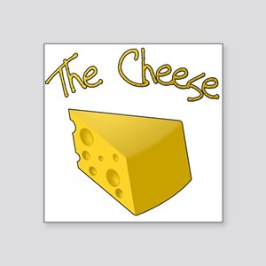 "The Cheese Square Sticker 3"" x 3"""