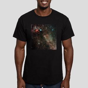 Milky Way in Cygnus - Men's Fitted T-Shirt (dark)