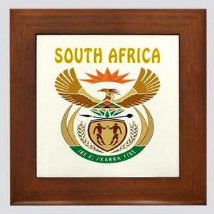 South Africa Coat of arms Framed Tile