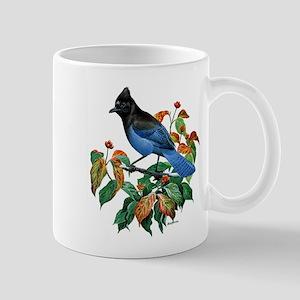 A Blue Stellers Jay in Dogwood Tree Mug