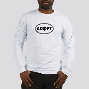ADOPT with a Paw Long Sleeve T-Shirt