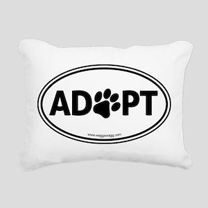ADOPT with a Paw Rectangular Canvas Pillow