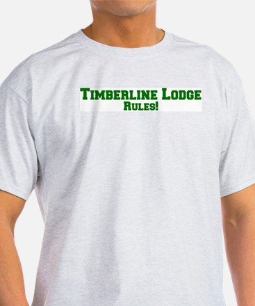 Timberline Lodge Rules! Ash Grey T-Shirt
