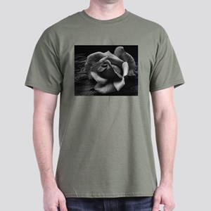 Ansel Adams Rose And Driftwood Dark T-Shirt