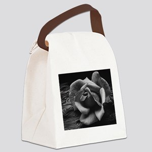 Ansel Adams Rose And Driftwood Canvas Lunch Bag