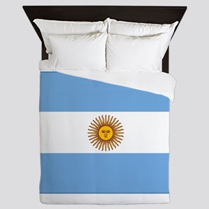 flag of Argentina Queen Duvet