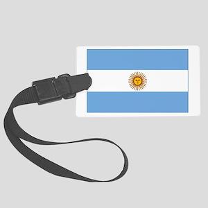 flag of Argentina Large Luggage Tag