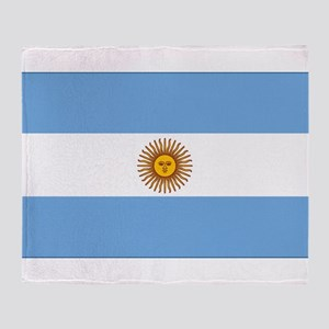 flag of Argentina Throw Blanket