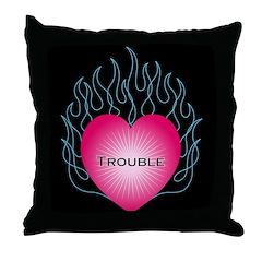 Tribal Hearts Throw Pillow
