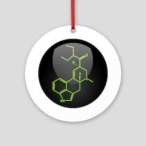 LSD molecule button Ornament (Round)