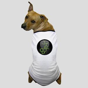 LSD molecule button Dog T-Shirt