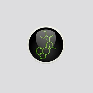 LSD molecule button Mini Button