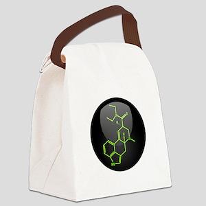 LSD molecule button Canvas Lunch Bag