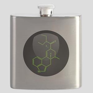 LSD molecule button Flask