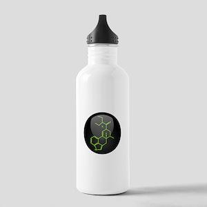 LSD molecule button Stainless Water Bottle 1.0L