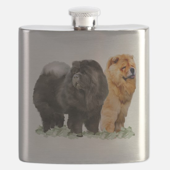 red and black chows Flask