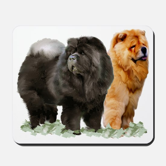 red and black chows Mousepad