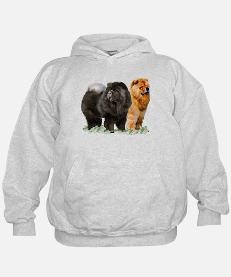 red and black chows Hoodie