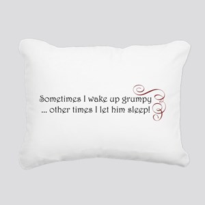 grumpy swirl Rectangular Canvas Pillow