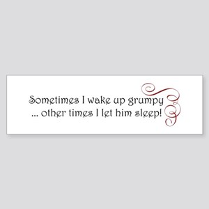 grumpy swirl Sticker (Bumper)