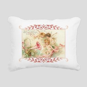 Cupid Angel I Rectangular Canvas Pillow