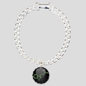DMT Molecule Charm Bracelet, One Charm