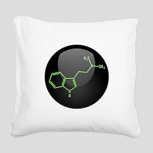 DMT Molecule Square Canvas Pillow
