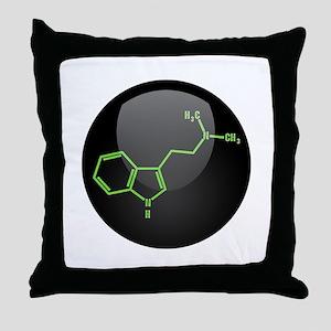 DMT Molecule Throw Pillow