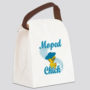Moped Chick #3 Canvas Lunch Bag