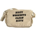 Dirty workouts clean diets Messenger Bag