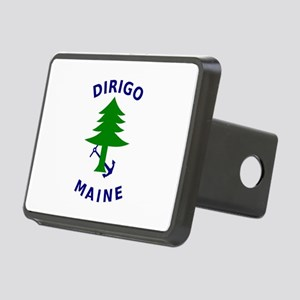 Merchant and Marine Flag of Maine Rectangular Hitc