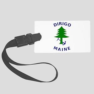 Merchant and Marine Flag of Maine Large Luggage Ta