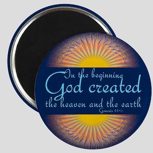 Genesis 1 1 Bible Verse Sunrise Magnet