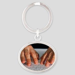 Braille - Oval Keychain